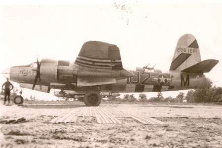 "B-26B-55-MA, Serial # 42-96161, coded U2*M named ""Patty Kay"""